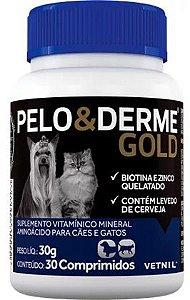 Pelo & Derme Gold Com 30 Comprimidos