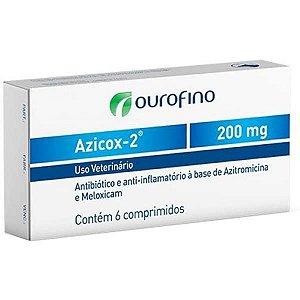 Antibiótico e Anti-inflamatório Ourofino Azicox 2 de 6 Comprimidos 200MG