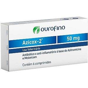 Antibiótico e Anti-inflamatório Ourofino Azicox 2 de 6 Comprimidos 50MG