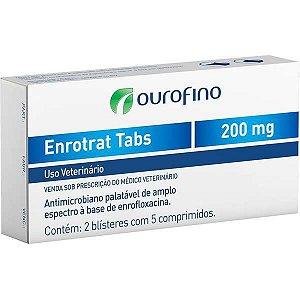 Antimicrobiano Ourofino Enrotrat Tabs de 10 Comprimidos 200MG