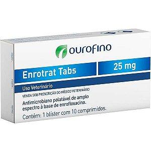 Antimicrobiano Ourofino Enrotrat Tabs de 10 Comprimidos 25MG
