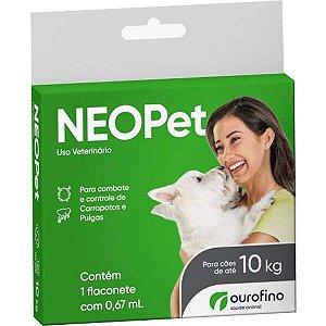 Antipulgas e Carrapatos Ourofino Neopet 0,67mL para Cães até 10KG