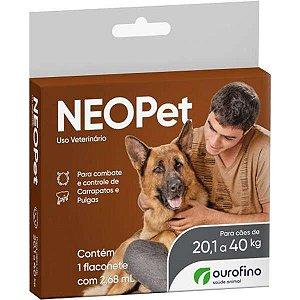 Antipulgas e Carrapatos Ourofino Neopet 2,68 mL para Cães de 20,1 até 40KG
