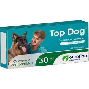 Vermifugo Ourofino Top Dog para Cães de até 30KG 2 Comprimidos