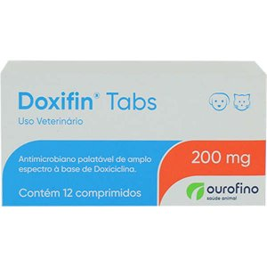 Antimicrobiano Ourofino Doxifin Tabs 12 Comprimidos 200MG