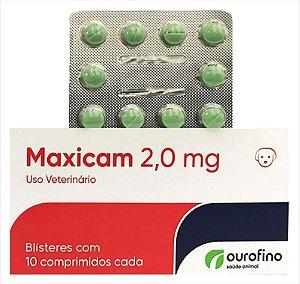 Maxicam 2,0MG 10 Comprimidos Cartela Avulsa + Bula
