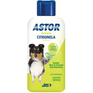 Shampoo Mundo Animal Astor Citronela para Cães 500ML