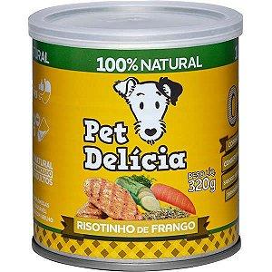 Pet Delícia Ração Úmida Cães Risotinho de Frango 320G