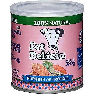 Pet Delícia Ração Úmida Cães Papinha de Frango 320G