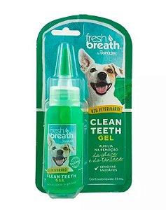 Solução Oral Tropiclean para Cães e Gatos Clean Teeth Gel 59ml