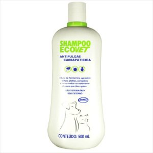 Shampoo Ecovet Antipulgas e Carrapaticida 500 ML