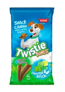 Snack Dental Twistie Bassar para Cães 45G