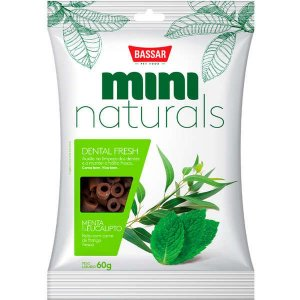 Snacks Bassar Mini Naturals Dental Fresh Menta & Eucalipto 60G