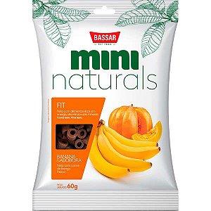 Snacks Bassar Mini Naturals Fit Banana & Abóbora 60G