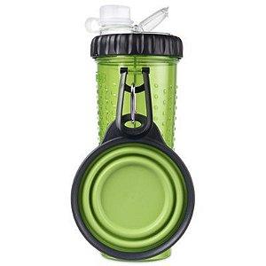 Copo Portátil Pet Snack-Duo Dexas Para Ração e Água - Verde 473ml