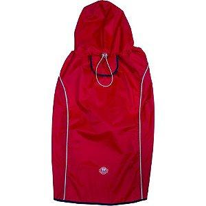 Capa de Chuva Vermelha/Azul P