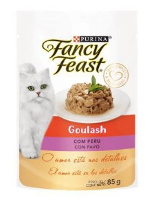 SACHÊ FANCY FEAST SACHE GOULASH COM PERU 85G