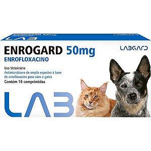 Antimicrobiano Labgard Enrogard 50 mg para Cães e Gatos até 20 Kg C/10 COMP