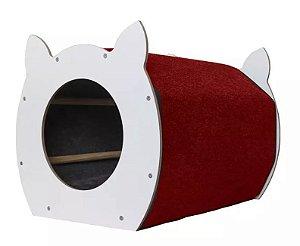 Arranhador Baw & Miaw Catface Tapete Grená para Gatos