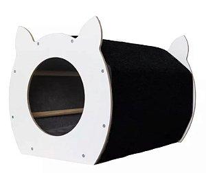 Arranhador Baw & Miaw Catface Tapete Preto para Gatos