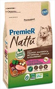 Premier Nattu Cães Adultos Mandioca Pequeno Porte 2,5KG