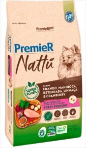 Premier Nattu Cães Adultos Mandioca Pequeno Porte 10,1KG
