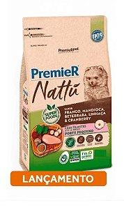 Premier Nattu para Cães Filhotes de Raças Pequenas Sabor Mandioca 1KG