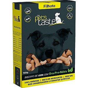 Biscoito The Pet's Taste Leite para Cães Filhotes 150G