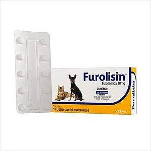 Furolisin 10mg para Cães e Gatos com 10 Comprimidos