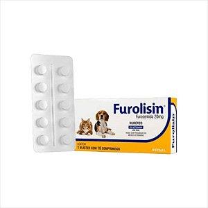 Furolisin 20mg para Cães e Gatos com 10 Comprimidos