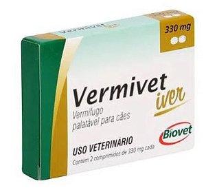 Vermífugo Vermivet Iver 330MG 2 COMP
