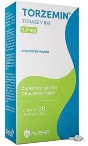 Torzemin Diurético 4MG para Cães C/30 COMP