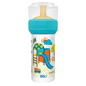 Mamadeira Lillo Super Divertida - Látex - 260 mL
