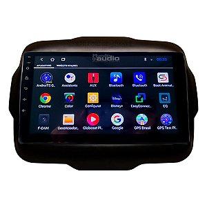 "Central Multimídia Kronos Tela 9"" Polegadas Jeep Renegade PCD e Standard Gps Tv Android"