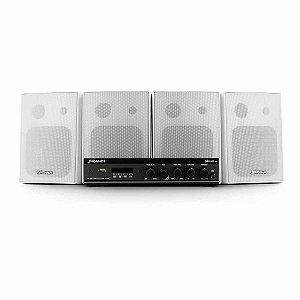 Kit Som Ambiente Frahm Amplificador + 4 Caixas de Parede PS 200