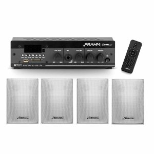 Kit Som Ambiente Receiver Frahm Slim 1000APP + 4 Caixas Parede PS 200