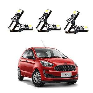 Kit Iluminação LED Ford Ka 2018 a 2020 Int e ext Tromot