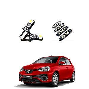 Kit Led Lâmpadas Toyota Etios 2020 Internos E Externos