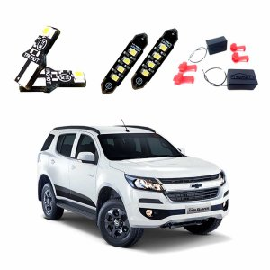Kit Led Trailblazer 2019  Luz Placa, Cortesia(teto), Porta-malas e Cancellers