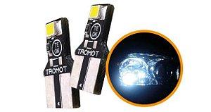 Led T10 lamp super branca esmagada TROMOT 6000k 12v (par) TLP01-02