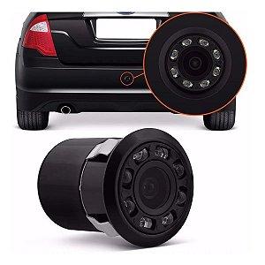 Mini Camera de Ré Visão Noturna LED Para-choque p/ Retrovisor ou multimidia