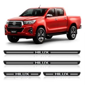 Soleira Toyota Hilux Resinada adesiva