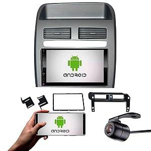 Central Multimídia Fiat Linea 2008 a 2014 Prata Com Sistema Android