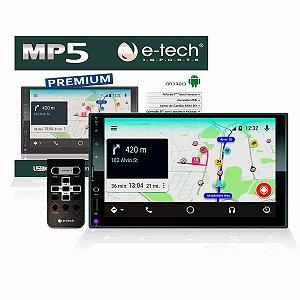 """Multimidia Etech MP5 Premium 7"""" com Android Integrado Completa"""