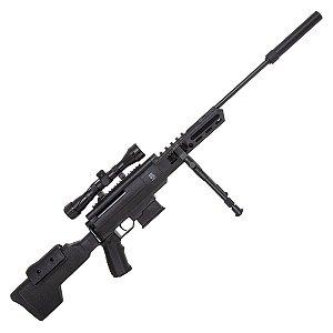 Carabina Pressão Black OPS GR 5,5mm C/lun 4X32