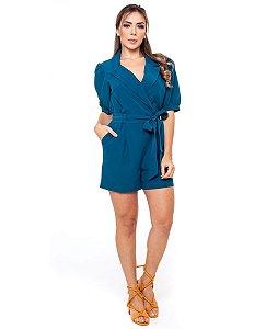 Macaquinho Feminino Curto Azul