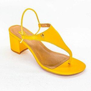 Sandalia Salto Medio Grosso Mostarda