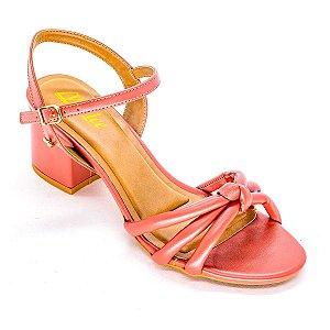 Sandalia de Tira com Salto Grosso Pink