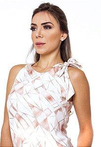Blusa Estampada Feminina Terracota