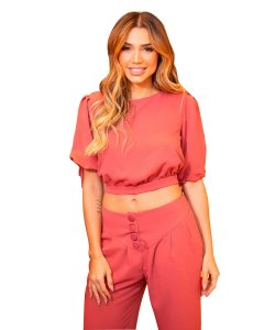 CROPPED BUFANTE - ROSE